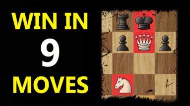 Nimzo-Larsen Trap: Chess Opening Tricks to WIN FAST #Shorts
