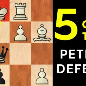5 Best Chess Opening Traps in the Petrov Defense | Stafford gambit, Anand was tricked and more