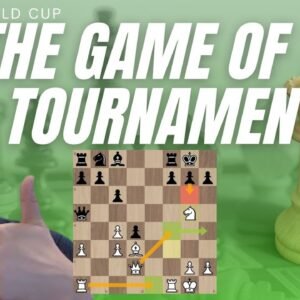 Adhiban's BRUTAL attack - Game of the FIDE World Cup so far?