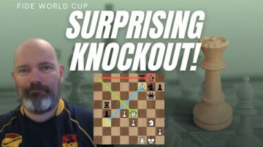 Fabiano Caruana sensationally KNOCKED OUT of the World Cup by World number 124!