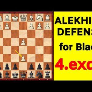 Chess Opening for Black | Alekhine Defense 4.exd6