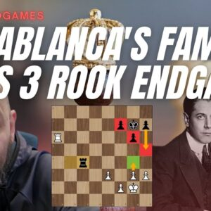 In the footsteps of Jose Raul Capablanca - The 4 vs 3 rook endgame