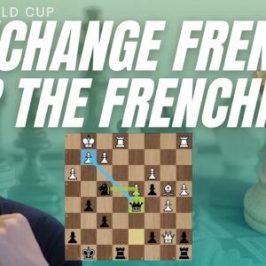 You need a draw to advance, is the exchange French the answer?