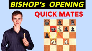 4 Quick Checkmates In The Bishop's Opening
