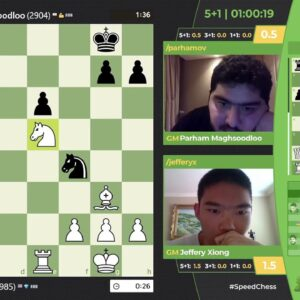 Xiong vs Maghsoodloo | Junior SCC Quarterfinals hosted by GM Hambleton and FM Klein