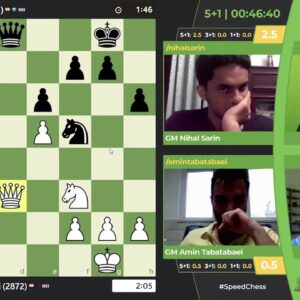 Nihal vs Tabatabaei | JSCC Quarterfinals hosted by NM Canty and FM Klein