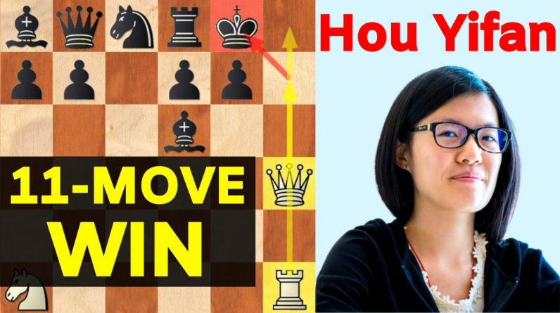 Hou Yifan WON in 11 moves! FASTEST victory of the World Champion!